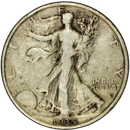 USA 1/2 Dolara 1935 - Walking Liberty