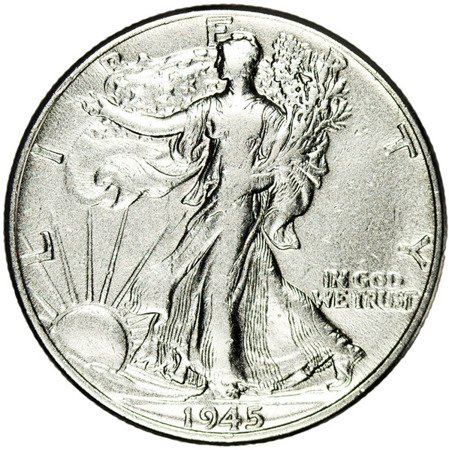 USA 1/2 Dolara 1945 - Walking Liberty